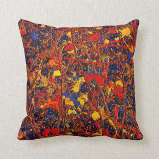 Abstract #725 throw pillow