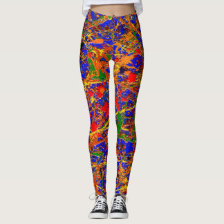 Abstract #741 leggings