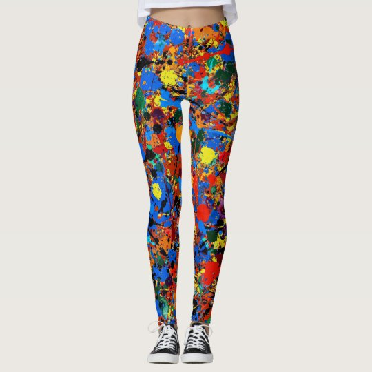 Abstract #744 Veronica Leggings