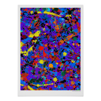 Abstract #746 Carnivale Poster