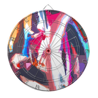 Abstract 7 moving lite dart board