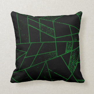 Abstract #948 Green Throw Pillow