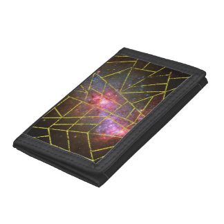 Abstract #949 tri-fold wallet