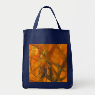 """Abstract A"" Acrylic on Canvas Reproduction Grocery Tote Bag"