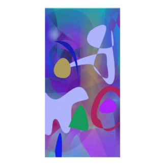 Abstract Abstract Blue Hue Photo Greeting Card