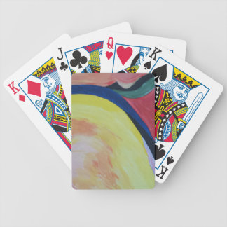 Abstract Acrylic Design 1 Bicycle Playing Cards