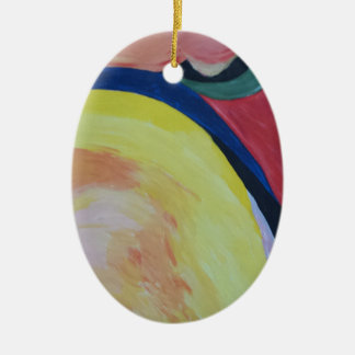 Abstract Acrylic Design 1 Ceramic Ornament