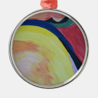 Abstract Acrylic Design 1 Metal Ornament