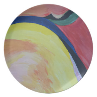 Abstract Acrylic Design 1 Plate