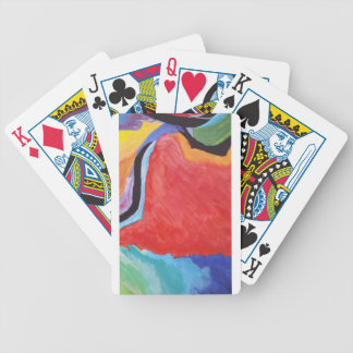 Abstract  Acrylic Design 2 Bicycle Playing Cards