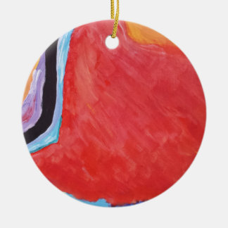 Abstract  Acrylic Design 2 Ceramic Ornament