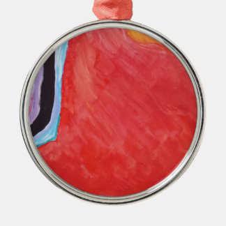 Abstract  Acrylic Design 2 Metal Ornament