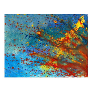 Abstract - Acrylic - Just another Monday Postcard