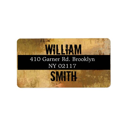 abstract address label