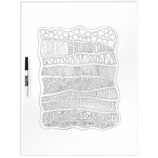 Abstract Adult Coloring Dry Erase Boards