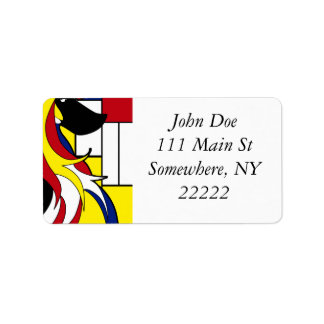 Abstract Afghan Hound Label