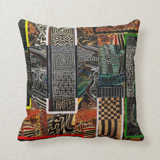 Abstract African Jungle Throw Pillow