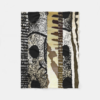 Abstract African Jungle Tribe Pattern Fleece Blanket