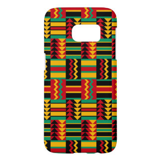 Abstract African Kente Cloth Pattern Red Yellow Samsung Galaxy S7 Case