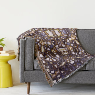 Abstract Agates Throw Blanket
