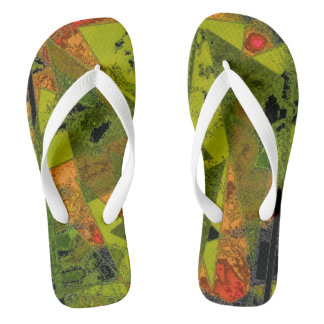 """Abstract Ala Mode"" Adult Flip Flops"