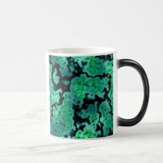 Abstract Algae 11 Oz Magic Heat Color-Changing Coffee Mug