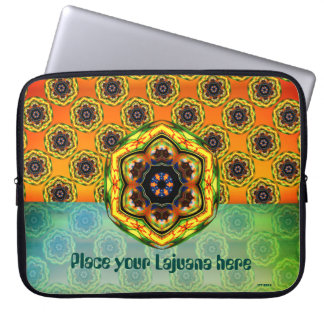Abstract Alien Space Flower Laptop Sleeve
