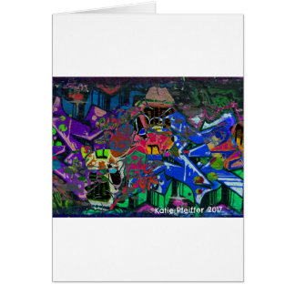 Abstract Altered Graffiti Card