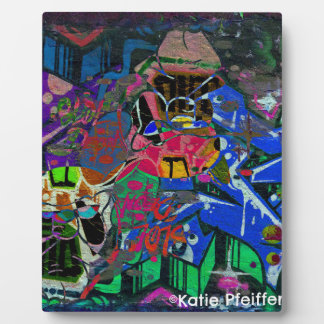 Abstract Altered Graffiti Plaque