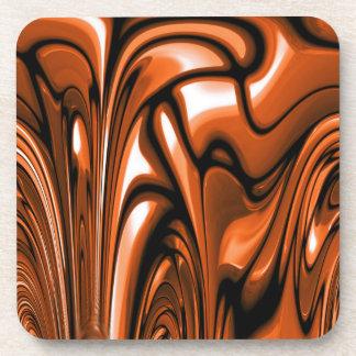 Abstract Amber Ocean Coaster