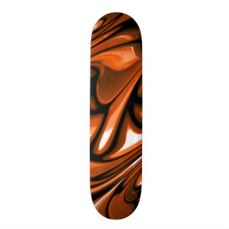 Abstract Amber Ocean Custom Skateboard