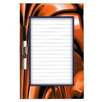 Abstract Amber Ocean Dry Erase Board