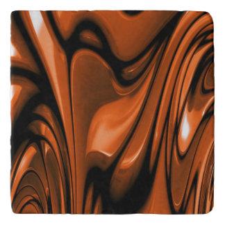 Abstract Amber Ocean Trivet