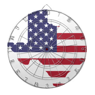 Abstract America Art Texas Dartboard