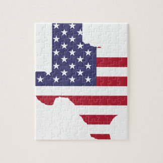 Abstract America Art Texas Jigsaw Puzzle