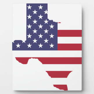 Abstract America Art Texas Plaque