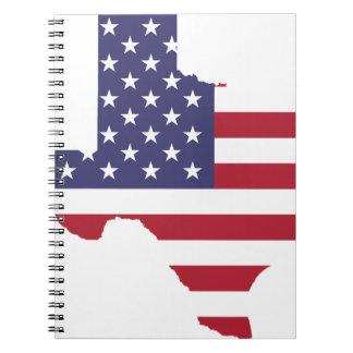 Abstract America Art Texas Spiral Notebook