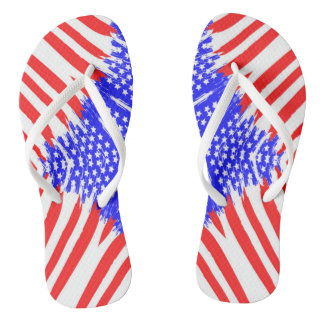 Abstract American Flag - Flip Flops