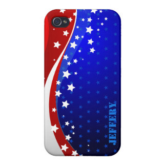 Abstract American Flag Monogram 2 iPhone 4 Case