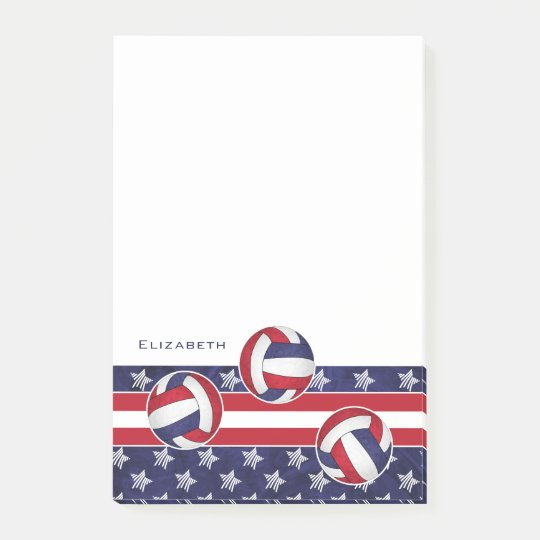 abstract American flag women's volleyball Post-it Notes
