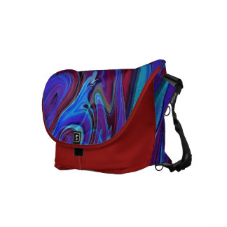 Abstract American Psychedelic Quail Messenger Bag