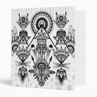 Abstract Ancient Native Indian Tribal Binder
