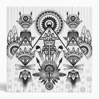 Abstract Ancient Native Indian Tribal Binders