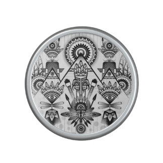 Abstract Ancient Native Indian Tribal Bluetooth Speaker