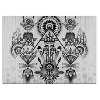 Abstract Ancient Native Indian Tribal Boards
