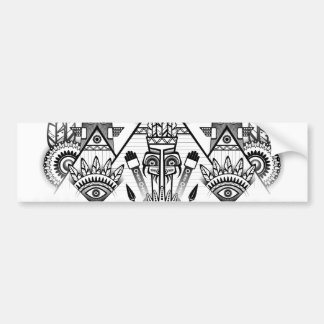Abstract Ancient Native Indian Tribal Bumper Sticker