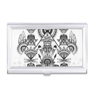 Abstract Ancient Native Indian Tribal Business Card Holder