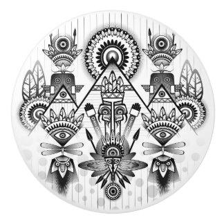 Abstract Ancient Native Indian Tribal Ceramic Knob