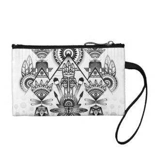 Abstract Ancient Native Indian Tribal Coin Purse