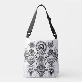 Abstract Ancient Native Indian Tribal Crossbody Bag